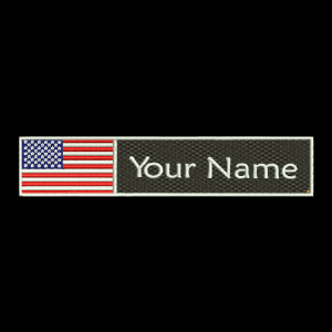 USA Flag & Name